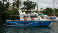 beautiful boat at the wharf