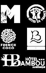 partenaires Atawane - Gites de France - Comité Martiniquais du Tourisme - Hotel Bateliere - Hotel French coco - Hotel Bambou