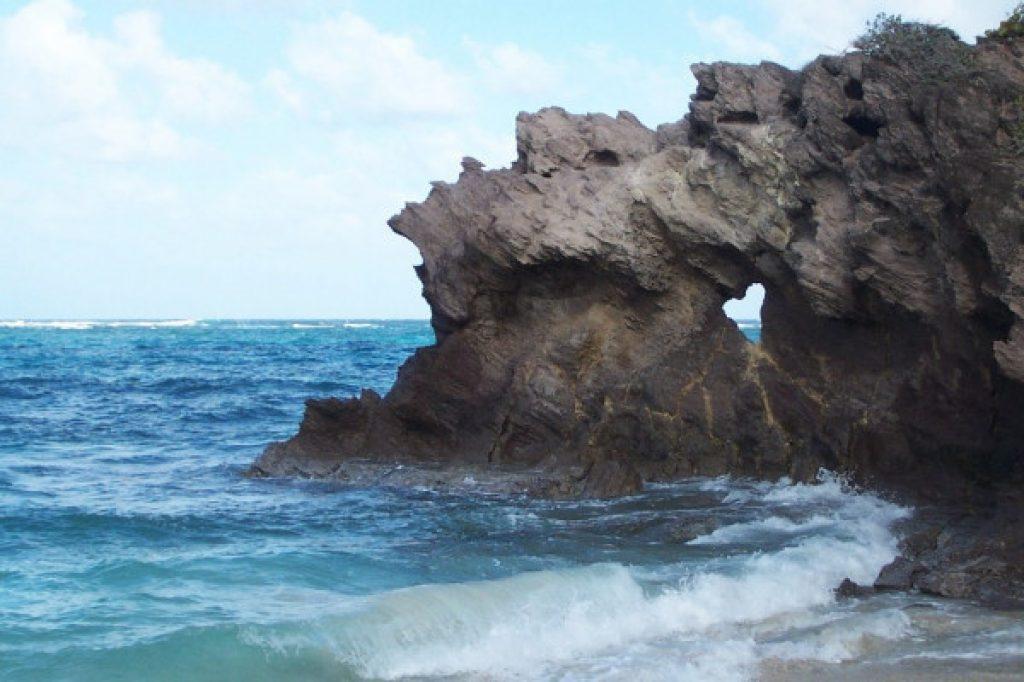rocher sculpté par l'erosion