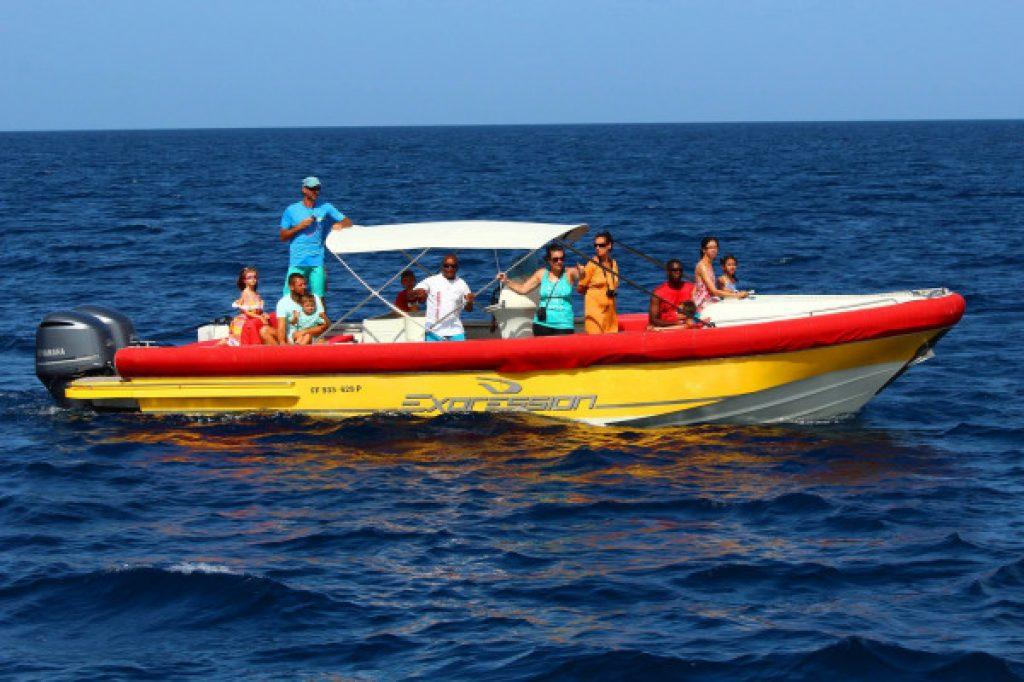 boat excursion Atawane Martinique