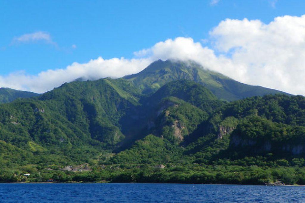 Montagne pelée au nord de la Martinique