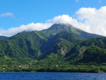 Peeled mountain in northern Martinique